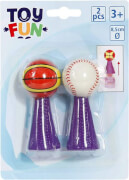 Toy Fun Pop-up Springbälle 8,5 cm, 2 Stück